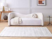 Area Rug Light Grey Viscose 160 x 230 cm Tufted