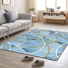 Area Rug Luxury Carpet Low Pile Living Room Youth