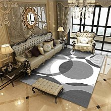 Area Rug Mat Off-white round simple(120x160cm) New
