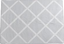 Area Rug Modern Geometric Trellis Carpet White