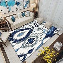 Area Rug,Modern Simple Abstract Geometric Blue