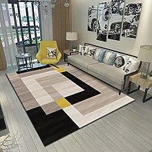 Area Rug,Modern Simple Fashion Geometric Brown