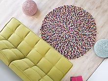 Area Rug Multicolour 140 cm Wool Felt Ball