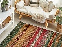 Area Rug Multicolour 140 x 200 cm Flat Weave