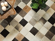Area Rug Multicolour Cowhide Leather 160 x 230 cm