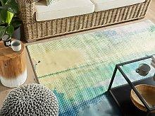 Area Rug Multicolour Fabric 140 x 200 cm Abstract