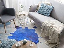Area Rug Multicolour Fabric 140 x 200 cm Paint
