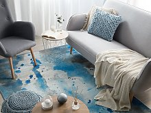 Area Rug Multicolour Fabric 140 x 200 cm