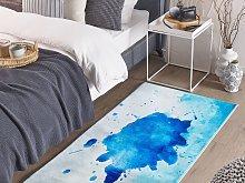 Area Rug Multicolour Fabric 80 x 150 cm Paint