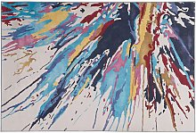 Area Rug Multicolour Modern Living Room Abstract