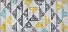 Area Rug Multicolour Modern Living Room Polyester