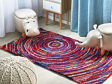 Area Rug Multicolour with Cotton 80 x 150 cm