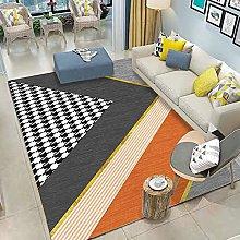 Area Rug,Nordic Fashion Geometric Triangle Stripes