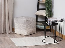 Area Rug Off-White Wool with Viscose 80 x 150 cm