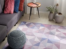 Area Rug Pastel Blue Grey 160 x 230 cm Triangle