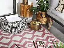 Area Rug Pink Synthetic Material 120 x 180 cm