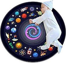 Area Rug Round Carpet Cosmic Nebula Rug For