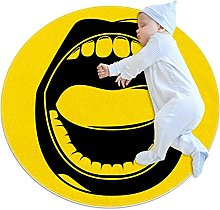 Area Rug Round Carpet Mouth Rug For Bedroom Kids
