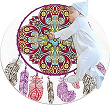 Area Rug Round Carpet National Style Rug For