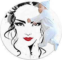 Area Rug Round Carpet Personality Woman Rug For