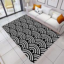 Area Rug Rugs For Living Room Black white