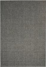 Area Rug Sisal Look Indoor/Outdoor 140x200 cm Dark