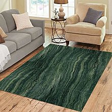 Area Rug Stone Green Marble Abstract Pattern