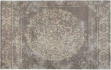 Area Rug Taupe Vintage Distressed Oriental Pattern