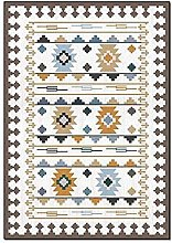 Area Rug,Vinatge Boho Ethnic AztecClassic