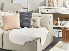 Area Rug White Faux Fur Rabbit Living Room Bedroom