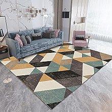 Area Rug,Yellow Geometric 160x200cm Rug,For
