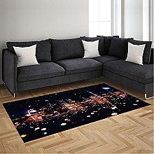 Area Rugs Black City Lights Soft Rugs Floor Carpet