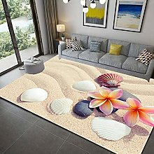 Area Rugs for Living Room 3D Stone Pattern Silky