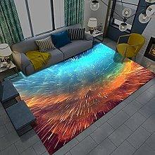 Area Rugs Home Decor Large Carpets Blue golden