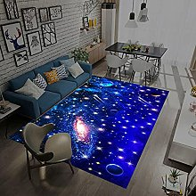 Area Rugs Home Decor Large Carpets Blue starry
