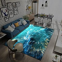 Area Rugs Home Decor Large Carpets Cyan colorful