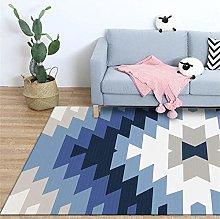 Area Rugs Home Decor Large Carpets Geometric blue