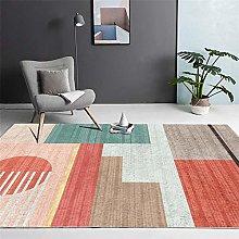 Area Rugs Home Decor Large Carpets Orange Cyan