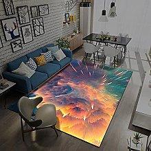 Area Rugs Home Decor Large Carpets Orange yellow