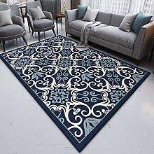Area Rugs Living Room Modern Carpet Blue, white,