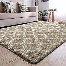 Area Rugs Shaggy Bedroom Carpets Anti-Slip Living
