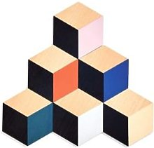 Areaware - Table Tile Coasters Set of 6 - multi -