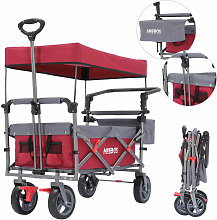 AREBOS Premium Hand Truck with Roof Collapsible