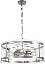 Ares design pendant light 4 bulbs polished chrome