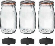 Argon Tableware Glass Storage Jars With Airtight