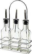 Argon Tableware Set of 3 Olive Oil/Vinegar Bottle