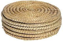 Argon Tableware - Set of Six Rustic Circular Straw
