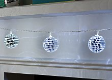 Argos Home 10 Bright White Disco Ball LED Lights -
