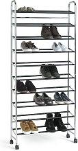 Argos Home 10 Shelf Rolling Shoe Storage Rack -
