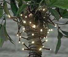 Argos Home 100 Warm White LED Solar String Lights